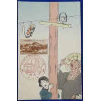 1940 Japanese Postcard : 70th , 50th Anniversary of Launch of Telegraph & Telephone Service