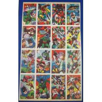 1960's BATMAN & Rainbow Sentai Robin : Japanese Menko Cards Uncut Sheet