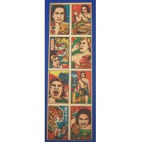 1950's Tarzan & Jungle Book : Japanese Menko Cards Uncut Sheet