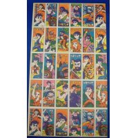 "1960's ""Shonen Keniya"" ( Boy the Kenya) : Japanese Menko Cards Uncut Sheet"