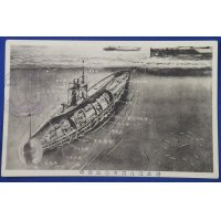 1910's Japanese WW1 Postcards Commemorative for Bringing the Seized German Navy Submarines