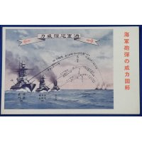 "1930's Japanese Navy Postcards ""For New Knowledge on Navy "" ( battleship guns )"