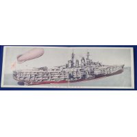 "1930's Japanese Navy Postcards ""For New Knowledge on Navy "" ( warship drawing )"