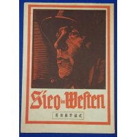 "1940's Japanese Advertising Flyer of Nazi German Movie ""SIEG IM WESTEN """