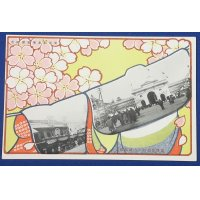 1900's Japanese Postcards Commemorative for The Tokyo Industrial Exposition / published by Mitsukoshi Kimono Store / Art of butterfly , cherry blossoms etc