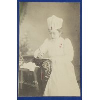 1900s Postcard : Red Cross Nurse Photo at the Russo-Japanese War time