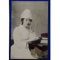 1900's Postcard : Red Cross Nurse Photo at the Russo-Japanese War time