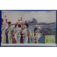 1930's Japanese Postcards : National Defense Women Society supporting soldiers