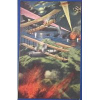 "1910's Japanese Postcards ""Fierce & Thrilling , The Future Air Battles"""