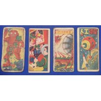 1950's Space War , Robot Art Japanese Menko Cards vintage toys