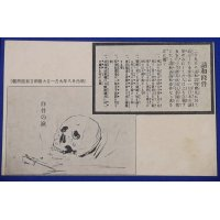 "1900's Russo Japanese War Postcard Accusing the Terms in the Peace Treaty of Portsmouth & Pro-Government Newspaper Company ""Tears of Skull ( meaning crying dead soldiers )"""