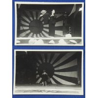 1940's Japanese Photo Cards : Playing Patriotic Wartime Drama at Some Local Army Regiment Festival