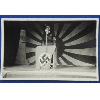 1940's Japanese Photo Card : Playing Patriotic Wartime Drama at Some Local Army Regiment Festival