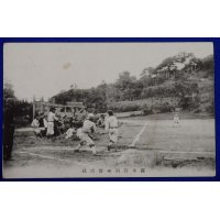 1930's Japanese Postcard ; High School Bseball in Kansai Region