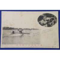 1910's Japanese Postcards Commemorative for the Visit of US Aviator William B. Atwater & Airmail Flight ( & photos of Curtiss Hydro-aeroplane)