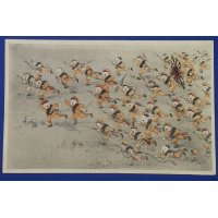 "1930's Japanese Postcards : Children Playing War ""Shou Kokumin"" ( = Japanese Children)"