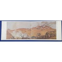 "1930's Sino-Japanese War Double Postcards Set ""Our 〜 (military secret) Unit's Battle Sites"" paint work by Komuro Takao, Juugun Gaka (painter embedded within army)"