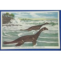 "1930's Japanese Postcards : Dinosaurs Art "" Extinct Animals "" Plesiosauria"