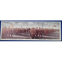 "1920's Japanese Army Panoramic Postcard ""Army Review Commemorative for  the Emperor's Enthronement / The selected regiments & the honorable regiment flags"""