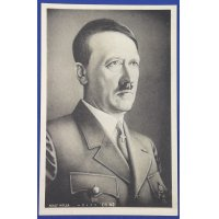 1930's Japanese Postcard : Portrait of Adolf Hitler