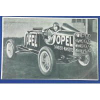 "1930's Japanese Postcard ""Opel , the world's fastest automobile"" ( Opel Sander Rakete )"