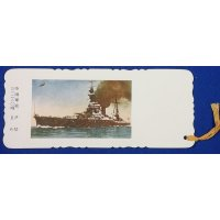 "1920's Japanese Navy Photo Bookmarks Set ""Kaigun Shiori "" ( Navy Bookmarks) Battleship ISE & Hyuga Class"