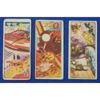 1950's Space & Military Art Japanese Menko Cards
