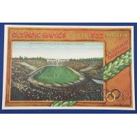 "1930's Japanese Postcards ""Memorial Postcards for the 10th Olympics ( Los Angeles 1932 )"""