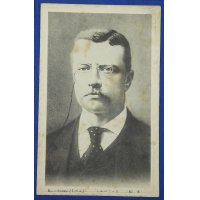 1900's Japanese Postcard : Portrait of Theodore Roosevelt
