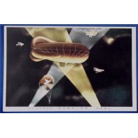 1920's Postcards Army Airforce Night Raid Maneuver